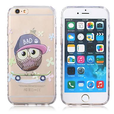 nieuwe uil patroon golven slip handvat TPU soft phone case voor de iPhone 6 plus / 6s plus