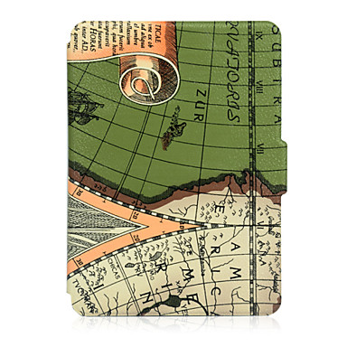 urso ™ 6 polegadas caso de couro capa de impressão tímido para amazon kindle toque novo 2014 (7 kindle) ebook