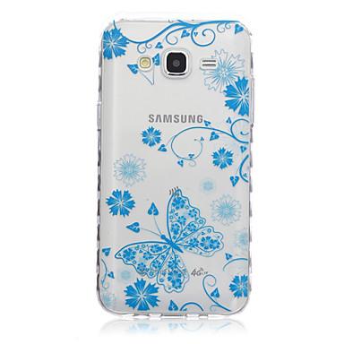 Para Samsung Galaxy Capinhas Transparente / Estampada Capinha Capa Traseira Capinha Borboleta TPU SamsungJ7 / J5 / J3 / J2 / J1 Ace / J1