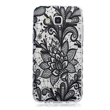 Capinha Para Samsung Galaxy Samsung Galaxy Capinhas Transparente Estampada Capa traseira Flor TPU para J7 J5 J3 J2 J1 Ace J1 Grand Prime