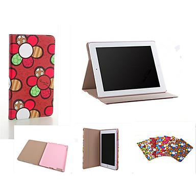 Capinha Para iPad Air Com Suporte Hibernação / Ligar Automático Capa Proteção Completa Azulejo PU Leather para iPad Air