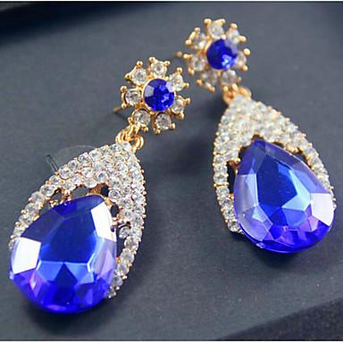 Oorknopjes Modieus Luxe Sieraden Europees Kubieke Zirkonia imitatie Diamond Legering Schermkleur Sieraden Voor 2 stuks