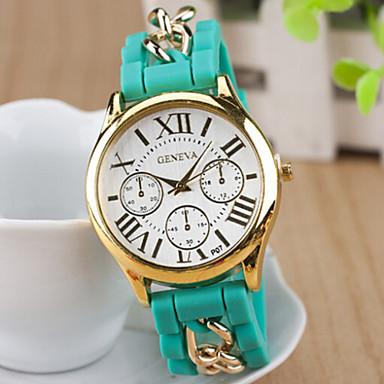 Dames Modieus horloge Kwarts Hot Sale Leer Band Amulet Zwart Wit Blauw Rood Bruin Groen Roze Beige roze
