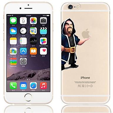 Capinha Para Apple iPhone 6 iPhone 6 Plus Transparente Estampada Capa traseira Brincadeira Com Logo da Apple Rígida PC para iPhone 6s