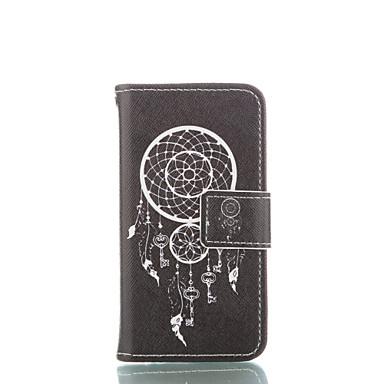 Para Capinha iPhone 5 Carteira / Porta-Cartão / Com Suporte / Flip / Estampada Capinha Corpo Inteiro Capinha Filtro dos Sonhos Rígida