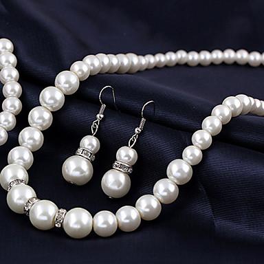 Damen Perle Anhängerketten / Perlenkette - Perle Europäisch, Brautkleidung Silber Modische Halsketten 1pc Für Hochzeit