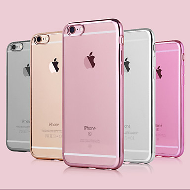 Кейс для Назначение Apple iPhone 6 iPhone 6 Plus Покрытие Кейс на заднюю панель Сплошной цвет Мягкий ТПУ для iPhone 6s Plus iPhone 6s