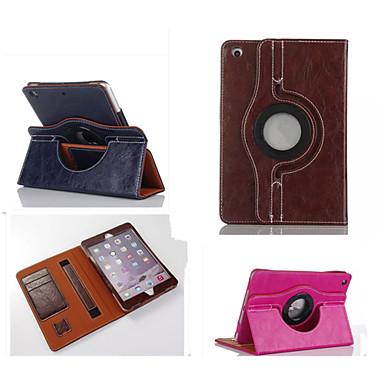 modeboetiek pu leer 360⁰ gevallen auto slaap / waak-up kaarthouder gevallen voor iPad lucht 2