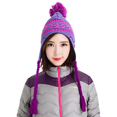 De Makino vrouwen gebreide muts warme muts snowboarden winter sneeuw hoeden 0113