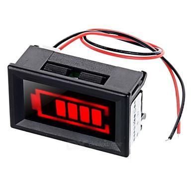 rood licht elektrische hoeveelheid Displayer w / strobe alarm voor 12V lood-zuur accu