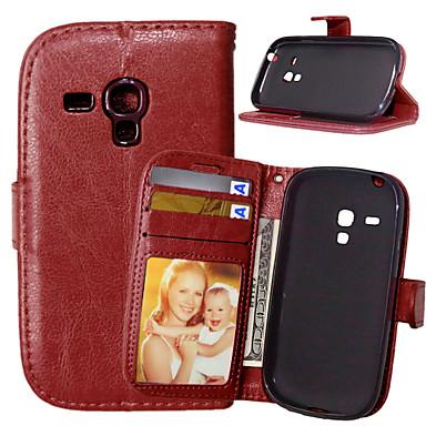 Para Samsung Galaxy Capinhas Carteira / Porta-Cartão / Com Suporte / Flip Capinha Corpo Inteiro Capinha Cor Única Couro PU SamsungS6