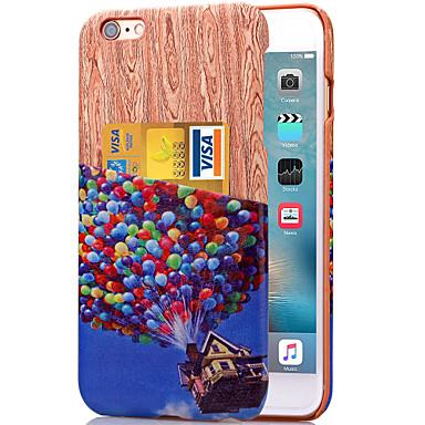 karzea ™ kleurrijke ballon patroon pu lederen achterkant geval is met kaarthouder voor de iPhone 6plus / 6splus