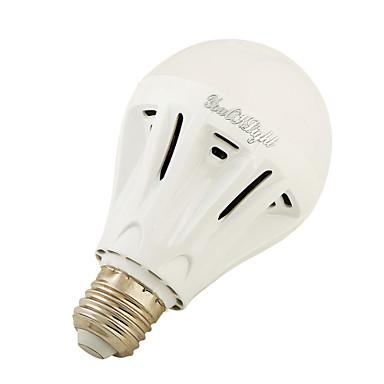1PC 4W 400 lm E27 مصابيح كروية LED A60(A19) 12 الأضواء SMD 5730 أبيض دافئ أبيض كول 3000/6000 ك AC220 V