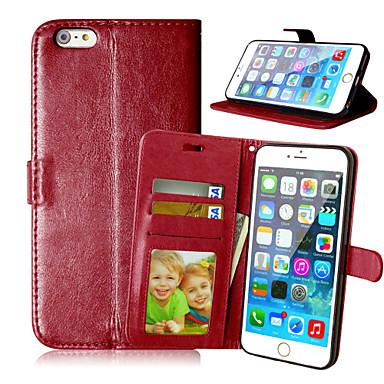 luxe pu lederen kaarthouder portemonnee staan flip cover met fotolijst case voor de iPhone 6 plus / 6s plus (verschillende kleuren)