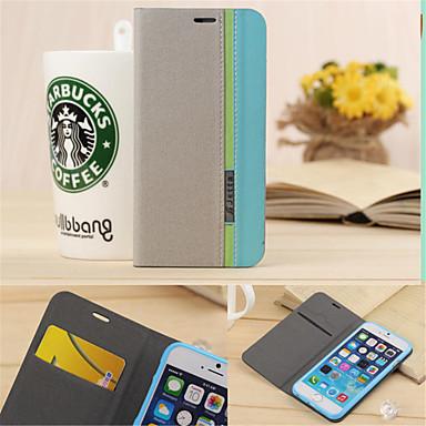 luxe portemonnee met kaartslot houder stijl gemengde kleuren lederen hoesje voor de iPhone 6 plus / 6s plus (verschillende kleuren)