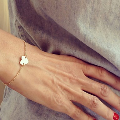 Kadın's Tılsım Bileklikler - Kalp, Aşk minimalist tarzı, Moda Bilezikler Gümüş / Altın Uyumluluk Yılbaşı Hediyeleri Parti Günlük