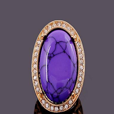 Vintage / Feest / Werk / Informeel - Verguld / Hars - Opvallende ring