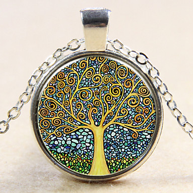 cheap Pendant-Women's Pendant life Tree Ladies Fashion Sterling Silver Copper Silver Bronze Necklace Jewelry For Wedding Party Daily Casual