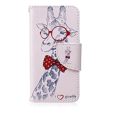 padrão de óculos girafa pu capinha suporte da placa de material para o iPod touch 06/05