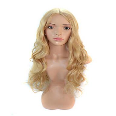 Cabelo Sintético perucas Ondulado Peruca de carnaval Peruca de Halloween Longo Loira