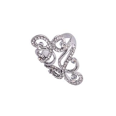 Statementringen Kristal imitatie Diamond Legering Muzieknoten Zilver Sieraden Feest Dagelijks Causaal 1 stuks