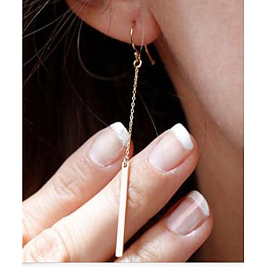 Mulheres Brincos Compridos - Chapeado Dourado Estilo simples, Fashion, Elegante Prata / Dourado Para Festa / Diário / Casual