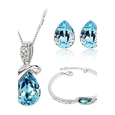 Mulheres Conjunto de jóias Bracelete / Brincos / Colares - Festa / Trabalho / Casual Roxo / Verde / Azul Para