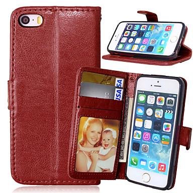 hoesje Voor iPhone 5 Apple iPhone X iPhone X iPhone 8 iPhone 5 hoesje Kaarthouder Portemonnee met standaard Flip Volledig hoesje Effen