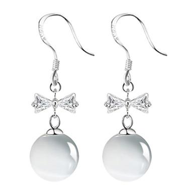 Damla Küpeler Sentetik Opal Som Gümüş Mücevher Uyumluluk Düğün Parti Günlük