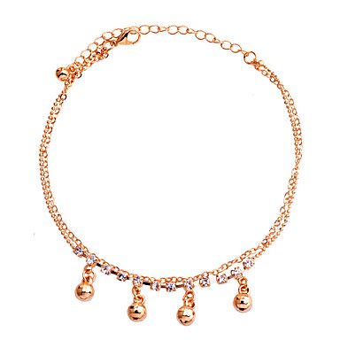 Feminino Tornezeleira Prata Chapeada Chapeado Dourado imitação de diamante Original Moda Jóias Dourado Prata Dourado Jóias 1peça