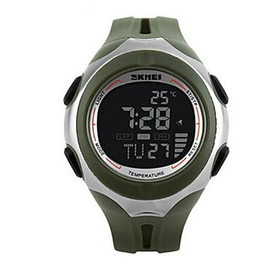 Masculino Relógio de Pulso Digital LED Calendário Cronógrafo Impermeável alarme Relógio Esportivo PU Banda Preta VerdeBranco Preto
