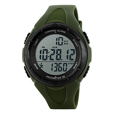 זול שעוני גברים-SKMEI בגדי ריקוד נשים שעוני ספורט שעון דיגיטלי דיגיטלי גומי שחור / כחול / ירוק 30 m עמיד במים Alarm לוח שנה דיגיטלי נשים אופנתי אלגנטית - ורוד ירוק האנטר כחול בהיר שנתיים חיי סוללה / כרונוגרף / LCD