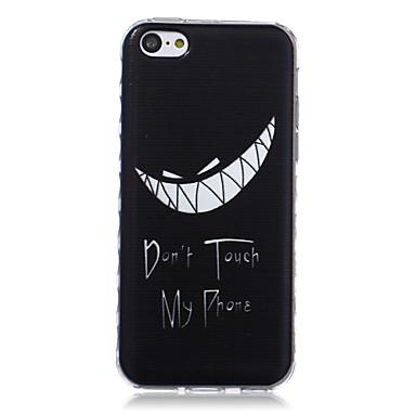 tanden patroon golven slip handvat TPU soft phone case voor de iPhone 5c