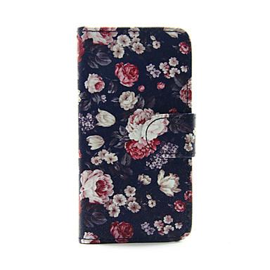 rosa colorida pu carteira de couro capinha de corpo inteiro para o iPod Touch 5/6