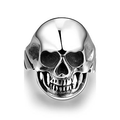Pierscionek Stal nierdzewna Skull shape Silver Biżuteria Halloween Codzienny Casual Sport 1szt
