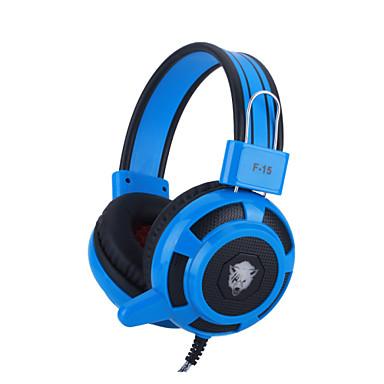 over-ear fone de ouvido fone de ouvido cabeça jogo w / baixo estéreo mic levou luz para pc - quatro cores opcionais
