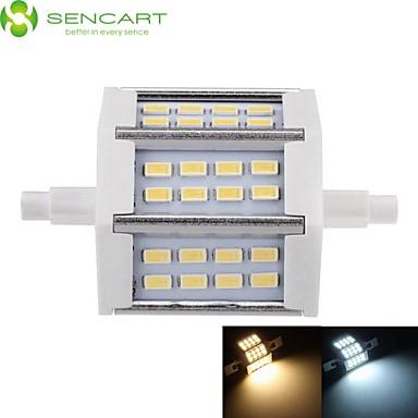 SENCART 5W 450-500lm R7S Focos de LED Encaixe Embutido 24 Contas LED SMD 5730 Regulável Branco Quente / Branco Frio 85-265V / 1 pç
