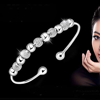 Bracelet Jonc Bracelet Femme Argent sterling dames Basique Mode Bracelet Bijoux Argent Forme de Cercle pour Mariage Soirée Quotidien Décontracté Mascarade Soirée de Fiançailles