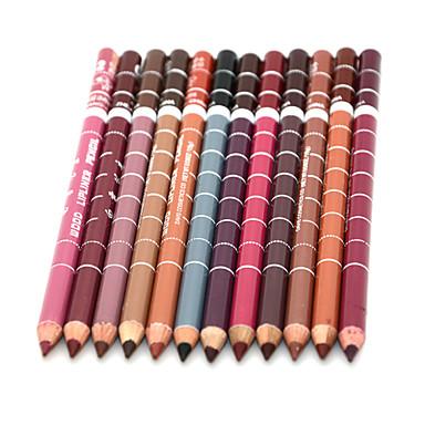 Delineador de Lábios Secos Lápis Gloss Colorido / Longa Duração / Natural / Secagem Rápida / Respirável Preta / Marrom / Vermelho