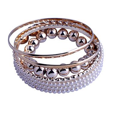 Dames Sieraden Set Strand Armbanden Sierstenen Parel Imitatieparel Legering Gouden Sieraden Voor Feest Dagelijks Causaal 1 stuks