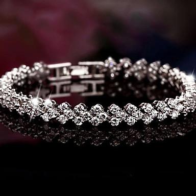 Mulheres Pulseiras com Pendentes Bracelete Jóias de Luxo Casamento Festival/Celebração bijuterias Prata de Lei Strass Jóias Jóias Para
