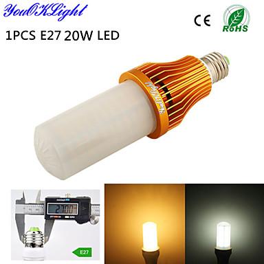 20W E26/E27 LED-maïslampen T 260 SMD 3528 1700 lm Warm wit / Koel wit Decoratief AC 220-240 / AC 110-130 V 1 stuks