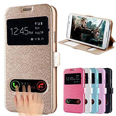 Pour Samsung Galaxy Coque Avec Support Avec Ouverture Clapet Coque Coque Intégrale Coque Couleur Pleine Cuir PU pour Samsung S5