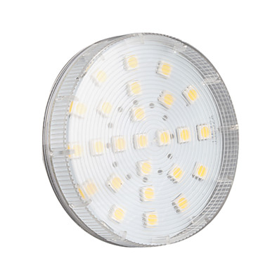 4W 250-300 lm GX53 Spot LED 25 diodes électroluminescentes SMD 5050 Blanc Chaud AC 220-240V