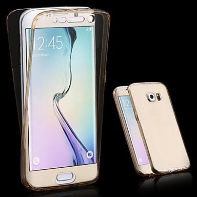 Недорогие Чехлы и кейсы для Galaxy S6-Кейс для Назначение SSamsung Galaxy S6 edge plus / S6 edge / S6 Прозрачный Чехол Однотонный ТПУ