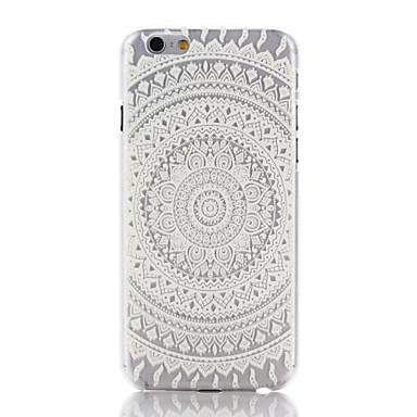 Pouzdro Uyumluluk Apple iPhone 6 iPhone 6 Plus iPhone 7 Plus iPhone 7 Şeffaf Temalı Arka Kapak Mandala Sert PC için iPhone 7 Plus iPhone