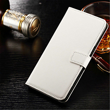 Capinha Para Samsung Galaxy Samsung Galaxy S7 Edge Porta-Cartão Carteira Com Suporte Flip Capa Proteção Completa Côr Sólida Rígida PU
