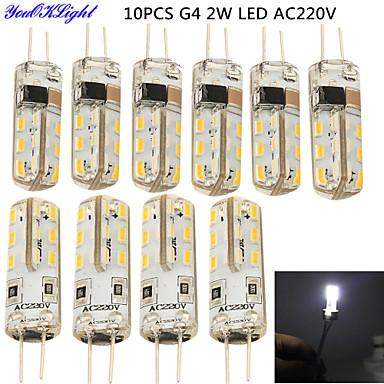 2W G4 2-pins LED-lampen T 24 leds SMD 3014 Decoratief Koel wit 150-200lm 6000K AC 220-240V