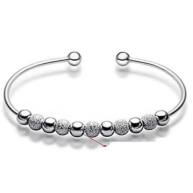 Dam Armringar / Armband - Sterlingsilver Grundläggande, Mode Armband Silver Till Bröllop / Party / Dagligen