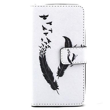 Para Capinha LG Case Tampa Porta-Cartão Carteira Com Suporte Flip Estampada Corpo Inteiro Capinha Penas Rígida Couro Ecológico para LG LG
